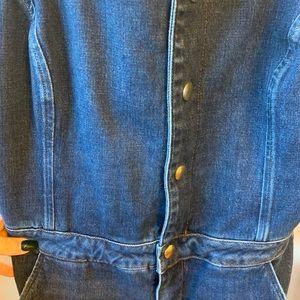 Frame Denim Button-front denim jumpsuit